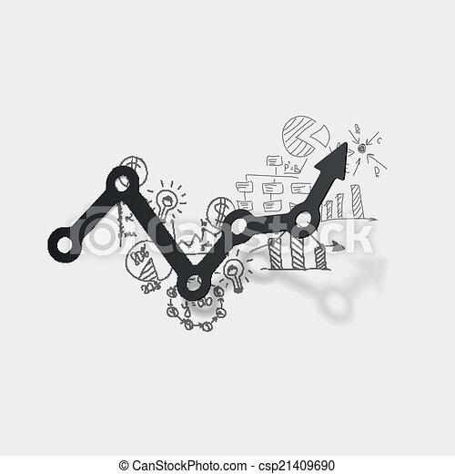Drawing business formulas: chart - csp21409690