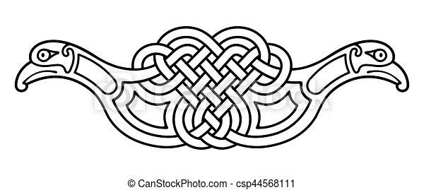 Dessin Celtique drawing., celtique, national. birds., celtique, figure., national