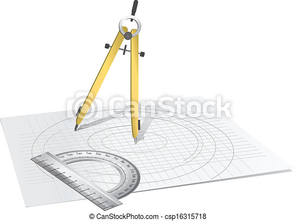 Drawing Compass - csp16315718