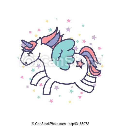 Drawing Cute Unicorn Icon
