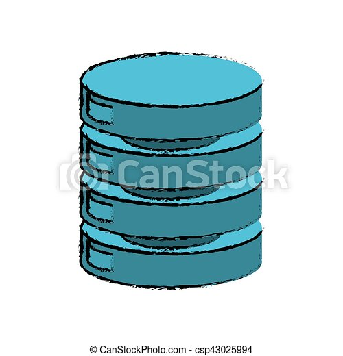 drawing data center server network - csp43025994