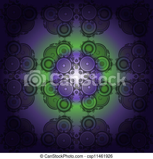Drawing floral abstract background - csp11461926