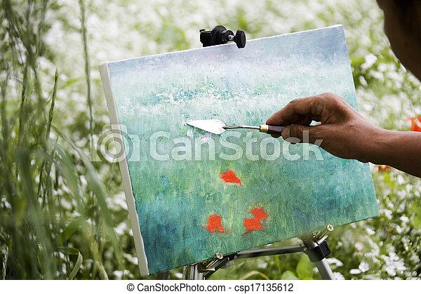 Drawing, Hand - csp17135612