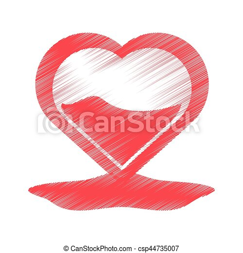 Drawing Heart Blood Donation Symbol Vector Illustration Eps 10