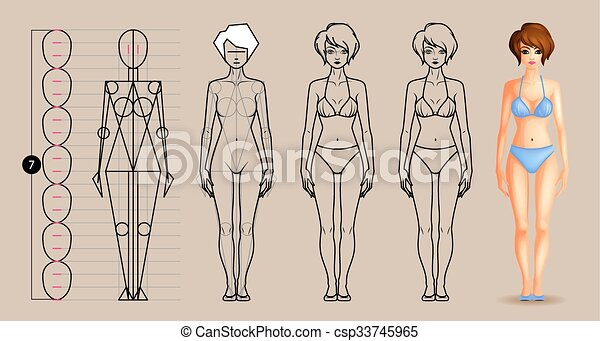 Stylized Human Body Clipart Vector Graphics 1 819 Stylized