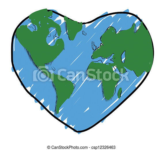 drawing Love the earth