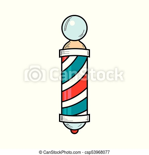 hand drawn retro style barber pole barbershop striped vectors rh canstockphoto com
