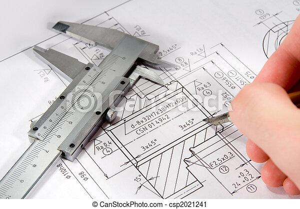 Drawing of gearwheel - csp2021241