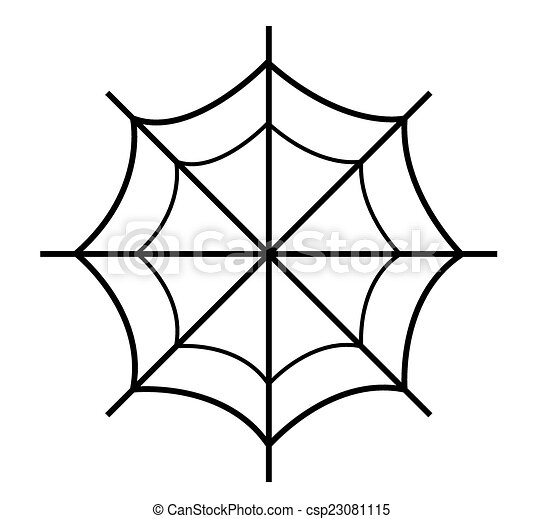 Drawing Of Spider Web Abstract Retro Spooky Scary Halloween