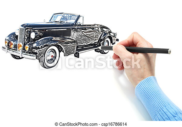Drawing of the automobile - csp16786614