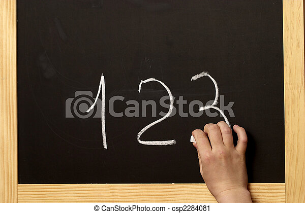 Drawing on a blackboard - csp2284081