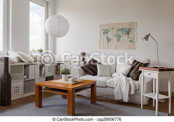 Drawing room in white - csp29006776