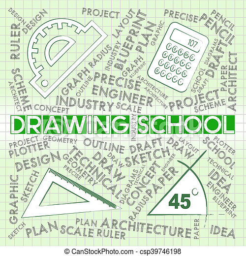 Drawing School Shows Design Education And Learning - csp39746198
