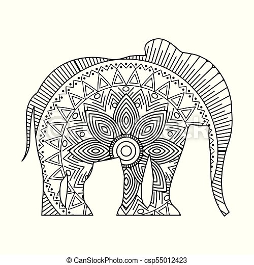 Elephant Printable Coloring Pages for Kids | 470x450