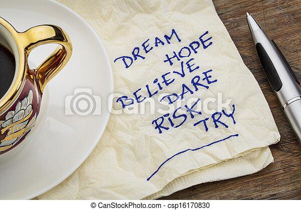 dream, hope, believe - csp16170830