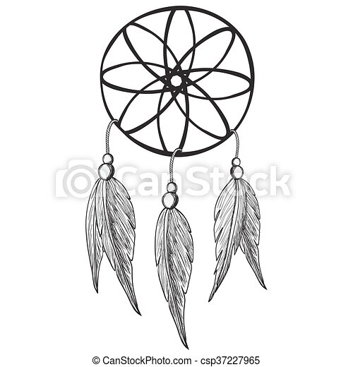 dreamcatcher vector illustration clip art vector search drawings rh canstockphoto com dreamcatcher vectors dream catcher vector free