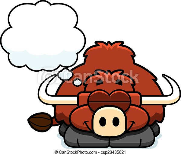 dreaming little yak a cartoon illustration of a little yak rh canstockphoto ca kid dreaming clipart kid dreaming clipart