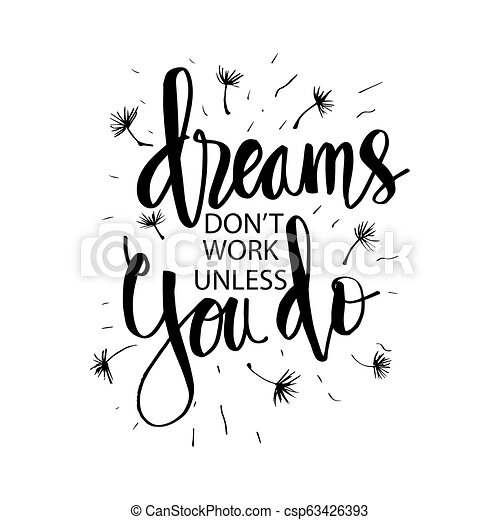 Dreams Don T Work Unless You Do Motivational Quote Poster