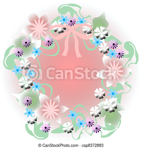 dreamy flower wreath - csp8372883