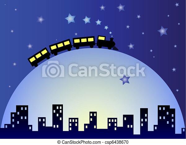 Dreamy train - csp6438670