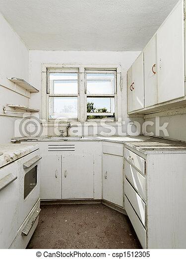 Leer schmutzige Küche. - csp1512305