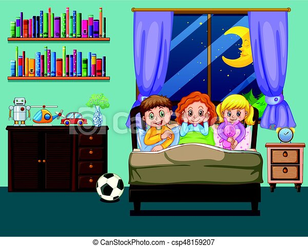 Clipart kind im bett How to