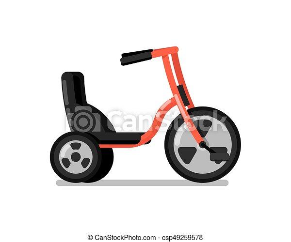 Kinder, fahrrad, freigestellt, vektor, sport, ikone. Wohnung