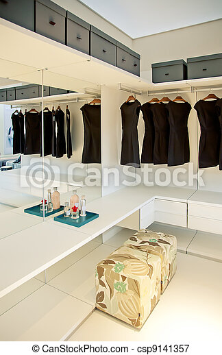 dress room in house - csp9141357