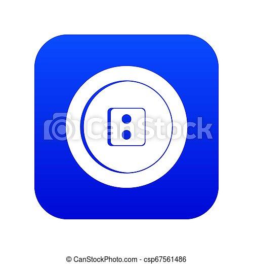 Dress round button icon digital blue - csp67561486