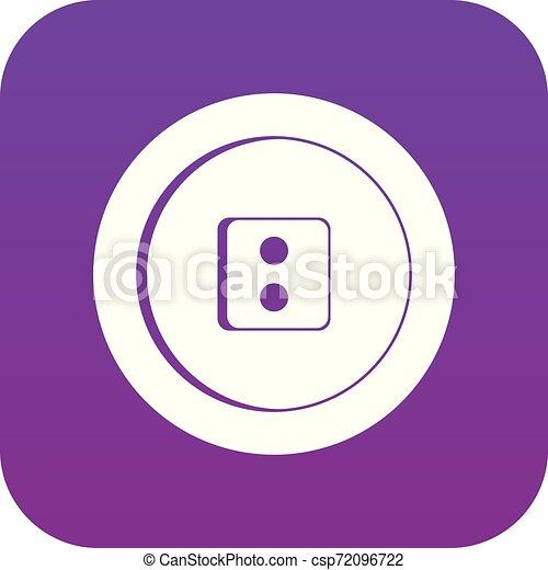 Dress round button icon digital purple - csp72096722