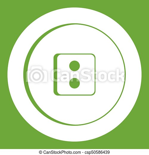 Dress round button icon green - csp50586439