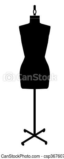 dressmakers mannequin - csp3676077