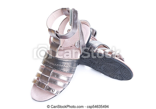 325da3d4b Dressy sandals for girls. isolate on white. Shoes for girls isolated ...