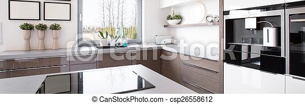 drewniany, kuchenny gabinet - csp26558612