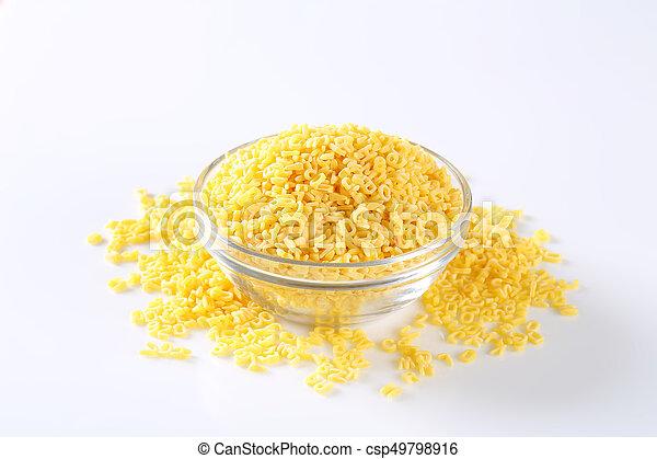 Dried alphabet pasta - csp49798916