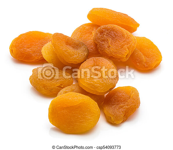 Dried apricot isolated on white - csp54093773