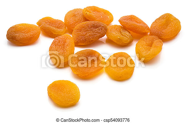 Dried apricot isolated on white - csp54093776