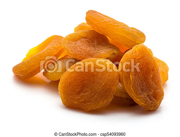 Dried apricot isolated on white - csp54093960