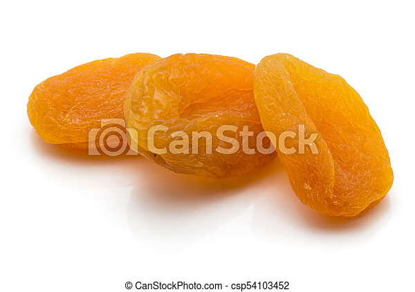 Dried apricot isolated on white - csp54103452