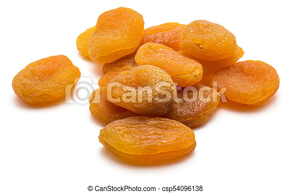 Dried apricot isolated on white - csp54096138