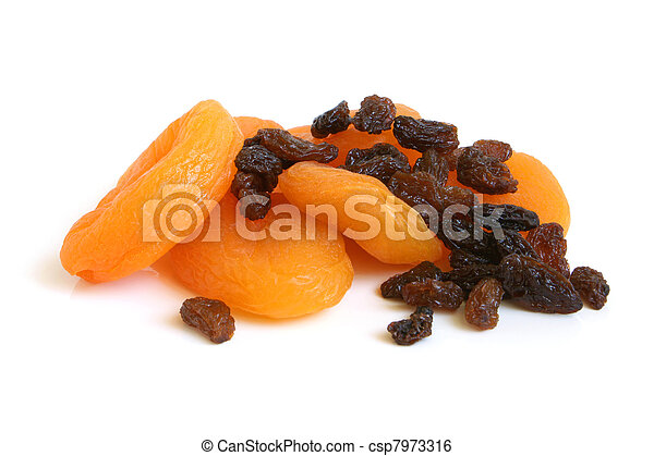 Dried apricots and raisins - csp7973316