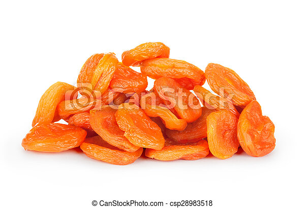 dried apricots isolated - csp28983518