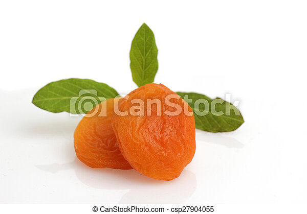 dried apricots isolated - csp27904055