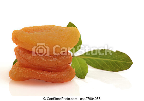 dried apricots isolated - csp27904056
