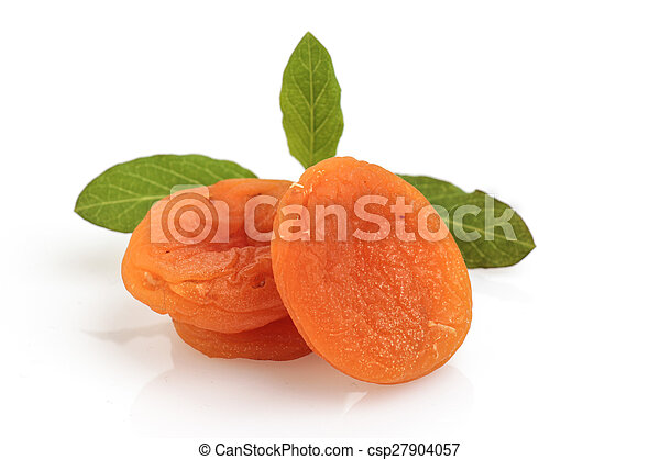 dried apricots isolated - csp27904057