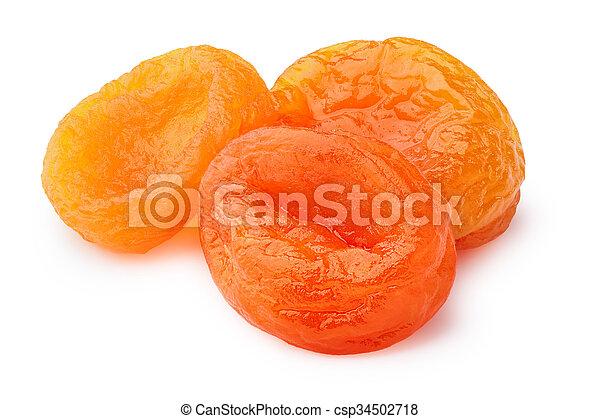 Dried apricots (kuraga) isolated - csp34502718
