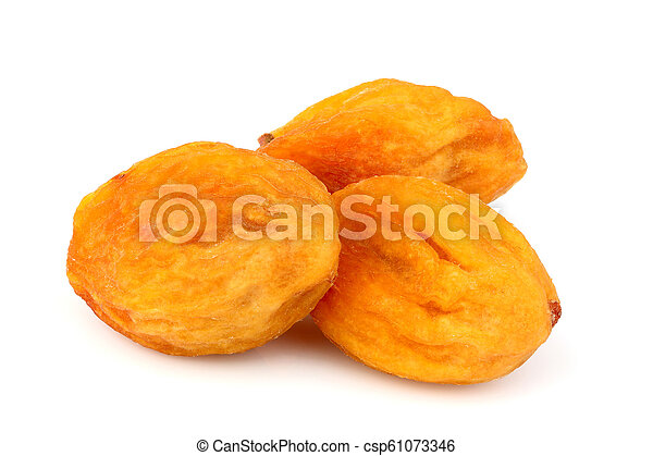 Dried apricots, uryuk, kuraga isolated. - csp61073346