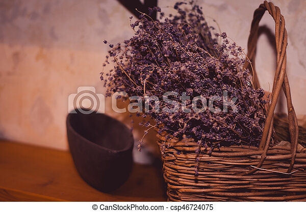 dried flowers decoration - csp46724075