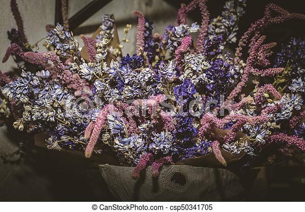dried flowers decoration - csp50341705