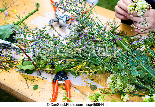 dried flowers - csp45864411
